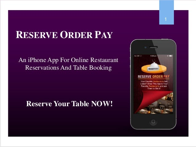 ReserveOrderPay IPhone App - Table reserve app