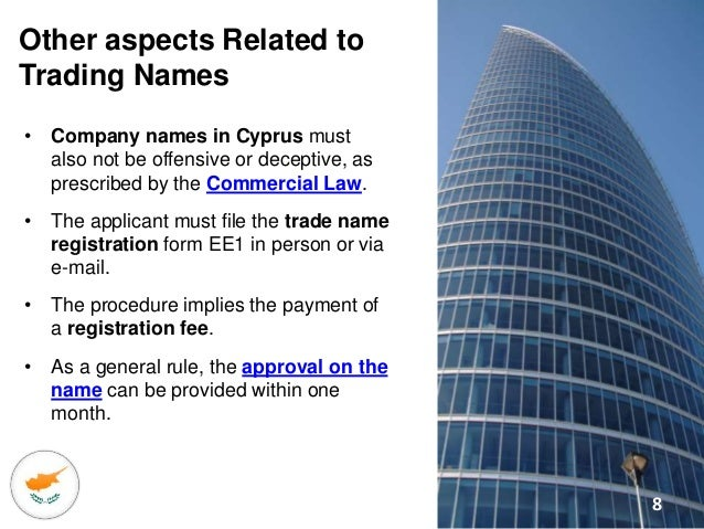 Reserving a Company Name in Cyprus