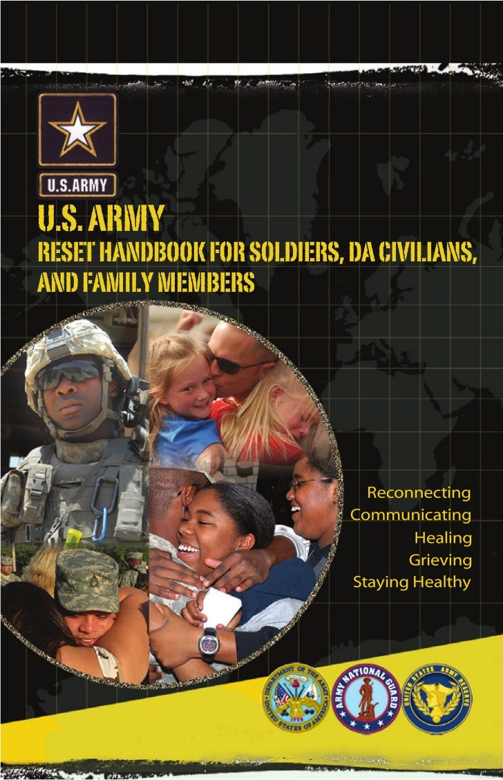 Front cover file is separate:REINT_FLIPBK_FAM_FRCVR_REV.psd  U.S. ARMY  RESET HANDBOOK FOR SOLDIERS, DA CIVILIANS,  AND FA...