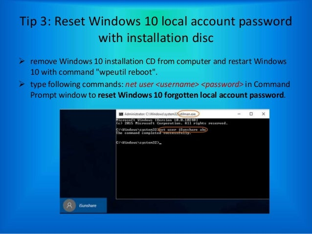 how to remove user password in windows 10 cmd