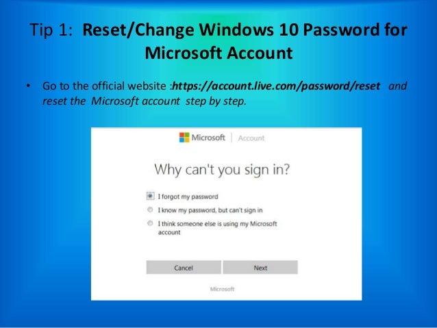 forgot my microsoft account windows 10