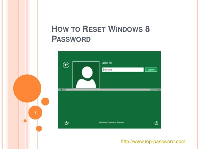 microsoft account password reset windows 8