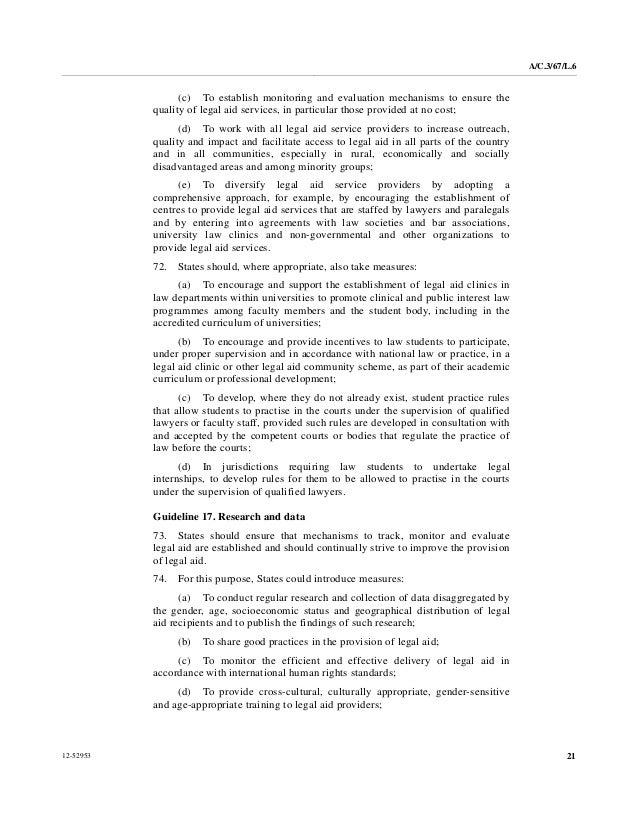 Special Education Procedural Safeguards_31 >> United Nations Principles And Guidelines On Access To Legal Aid In Cr