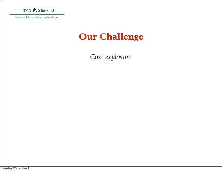 Radboud REshape & Innovation Center                                                Our Challenge                          ...