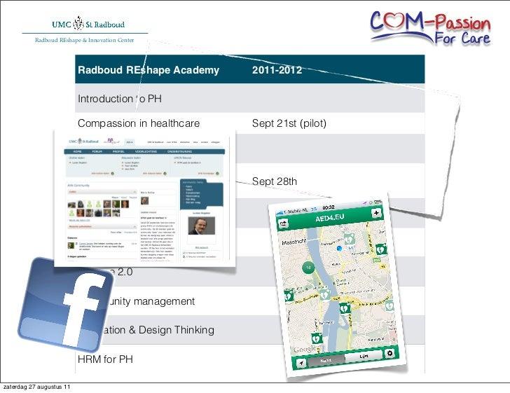 Radboud REshape & Innovation Center                          Radboud REshape Academy            2011-2012                 ...