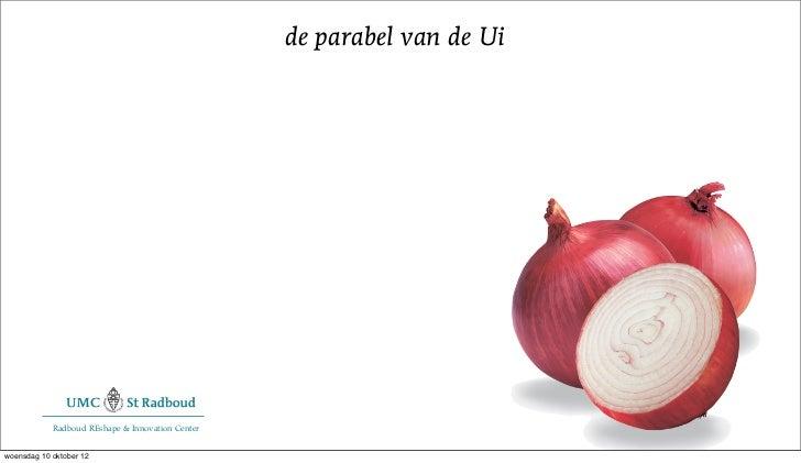 de parabel van de Ui            Radboud REshape & Innovation Centerwoensdag 10 oktober 12