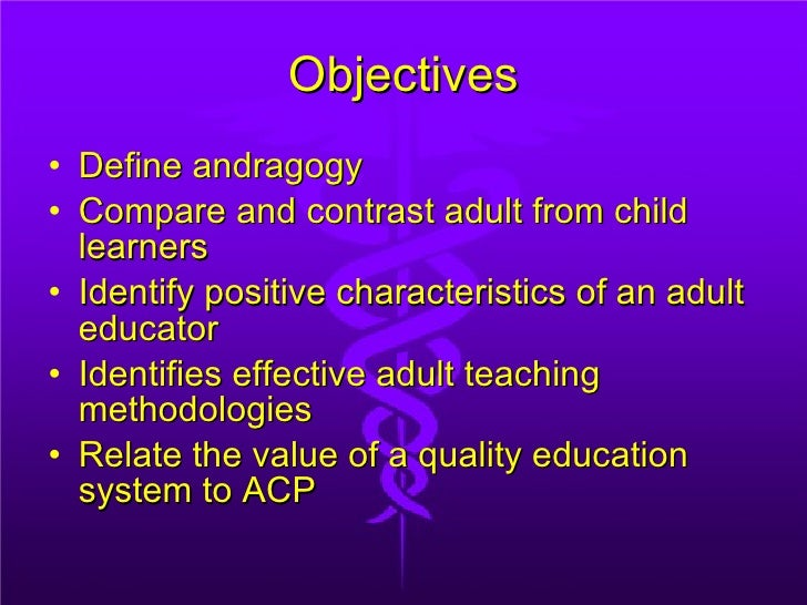 Andragogy--Adult Learning Theory