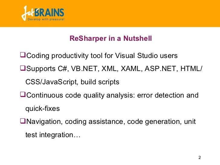 ReSharper Presentation for NUGs