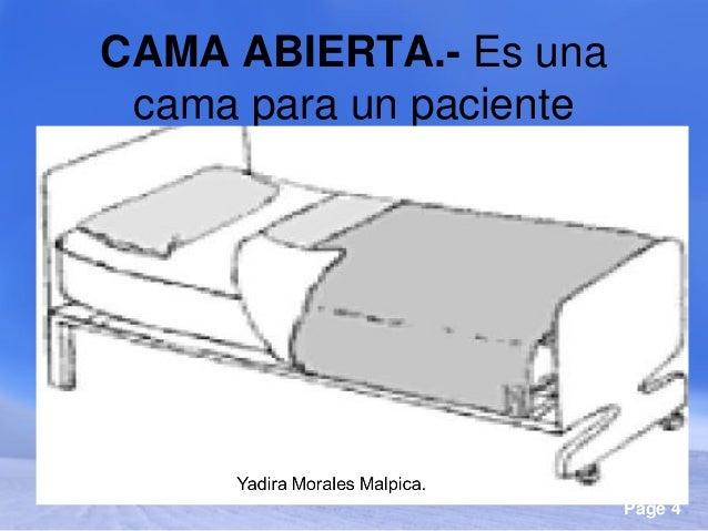 Residencia de fundamentos de enfermer a copia for Cama abierta