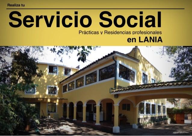 Residencias y Servicio Social en LANIA