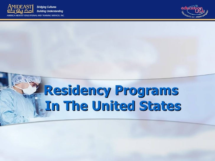 Residency Programs  In The United States