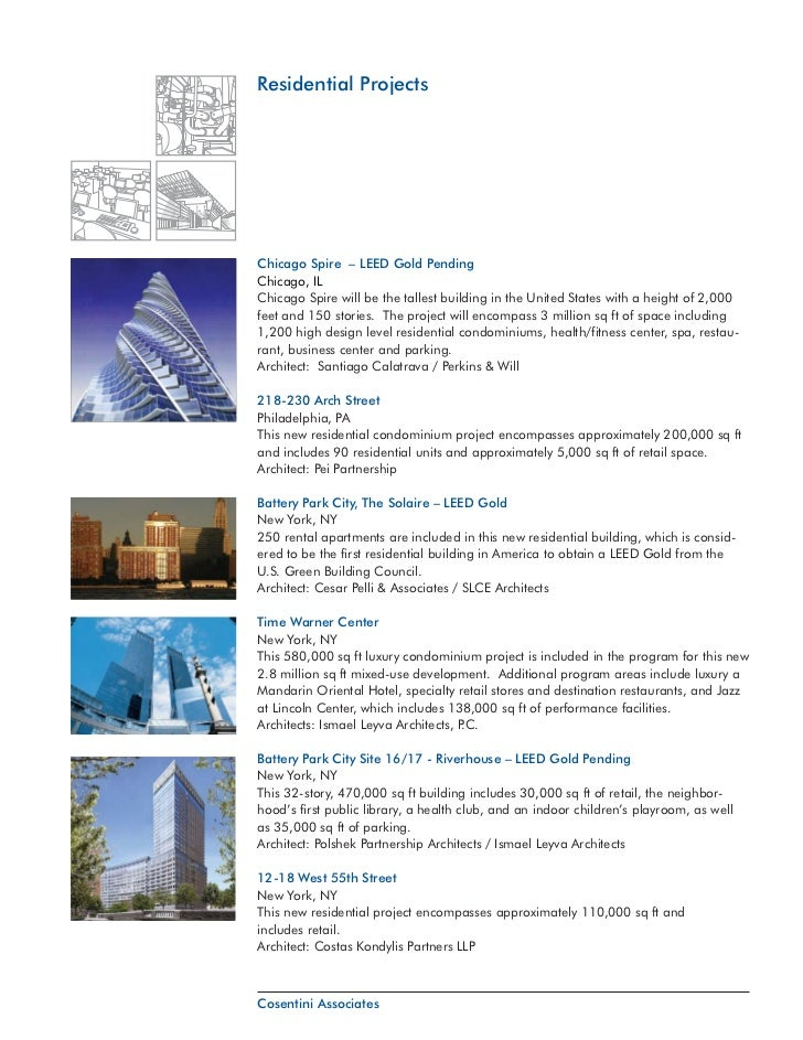 Residential ProjectsChicago Spire – LEED Gold PendingChicago, ILChicago Spire will be the tallest building in the United S...
