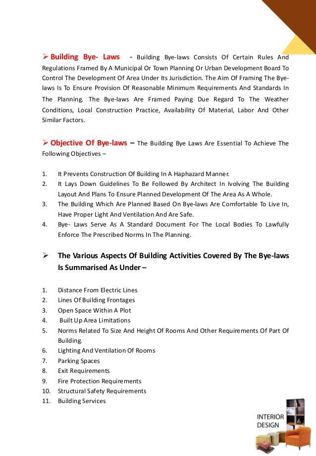 Interior Design Space Planning Guidelines