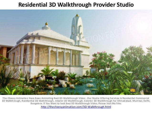 Residential 3d walkthrough provider studio for 3d walkthrough