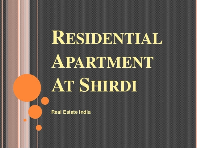 RESIDENTIALAPARTMENTAT SHIRDIReal Estate India