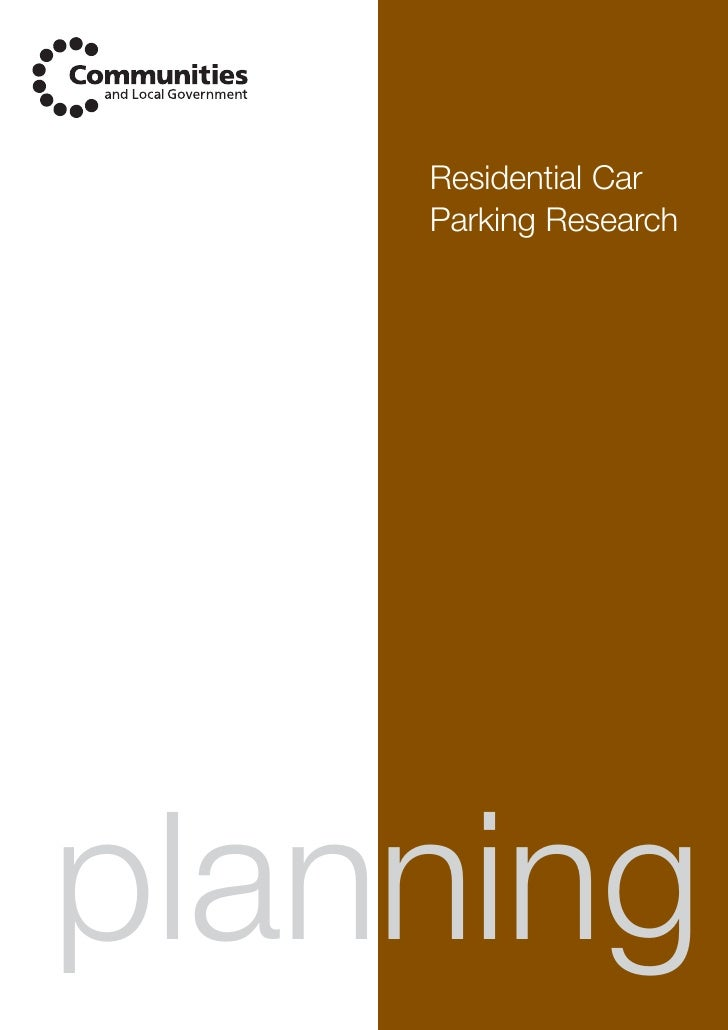 Residential Car     Parking Research     planning