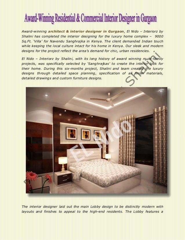 Award Winning Architect Interior Designer In Gurgaon El Nido Interiorz By Shalini