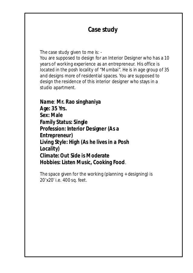 Andrew Felix JohnBSc Interior Design Residential Project