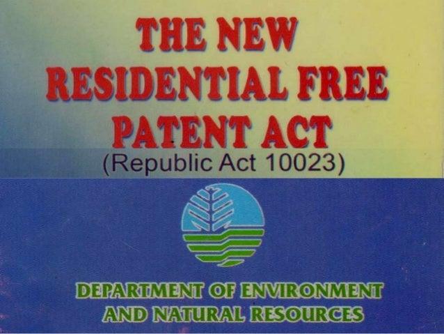 residential free patent primer