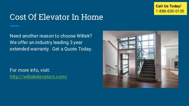Residential home elevators for Elevator in house cost