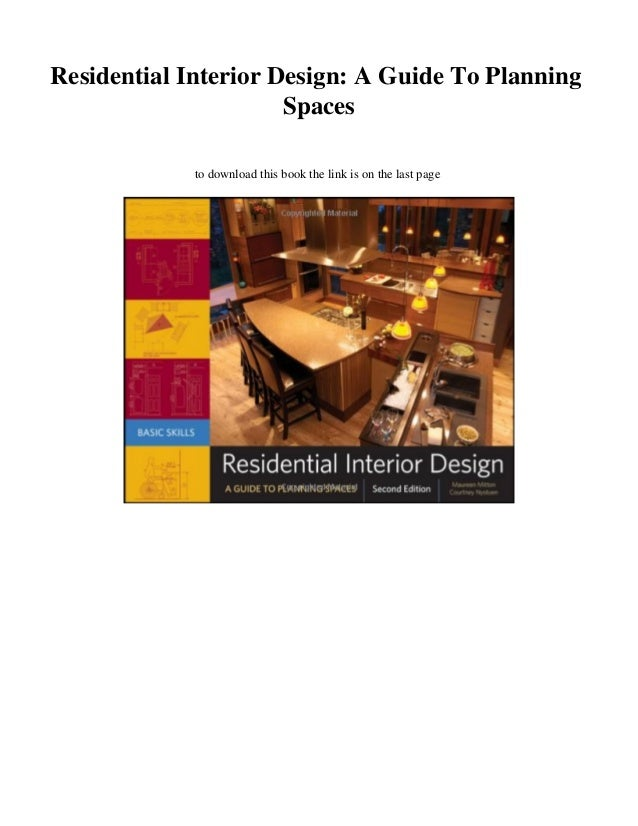 New Pdf Residential Interior Design A Guide To Planning Spaces