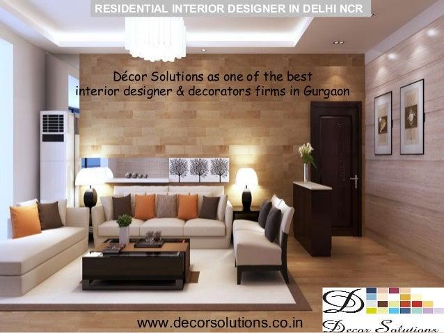 Residential interior designers in delhi ncr gurgaon