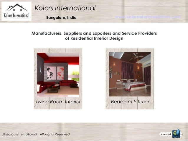 Residential interior design services for International decor services