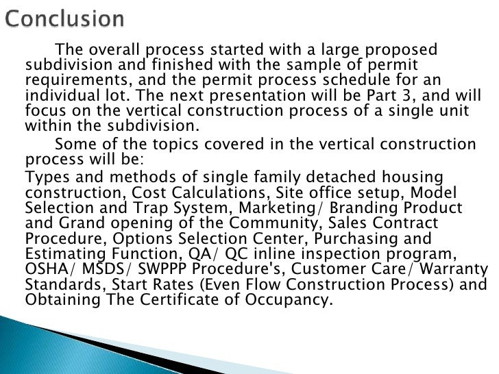 Residential Land Development Process