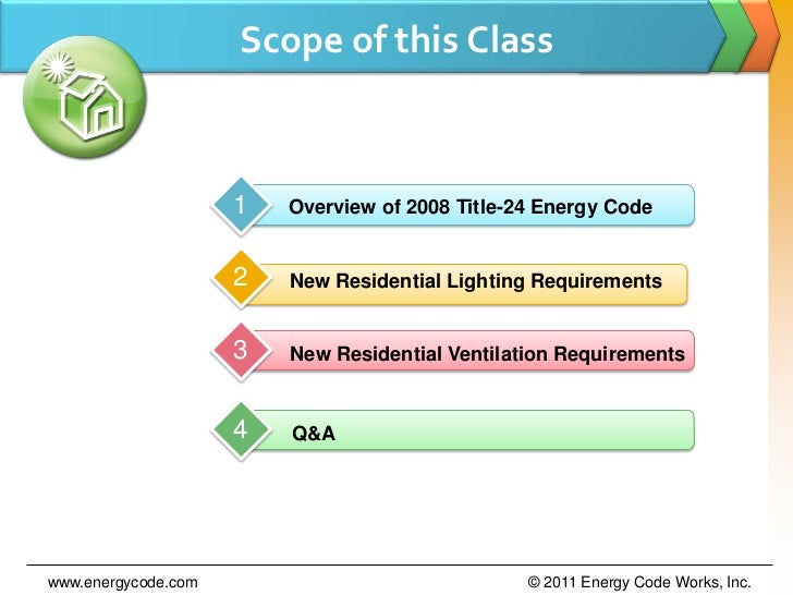 Residential Title-24 Lighting & ASHRAE 62 2 Ventilation Codes