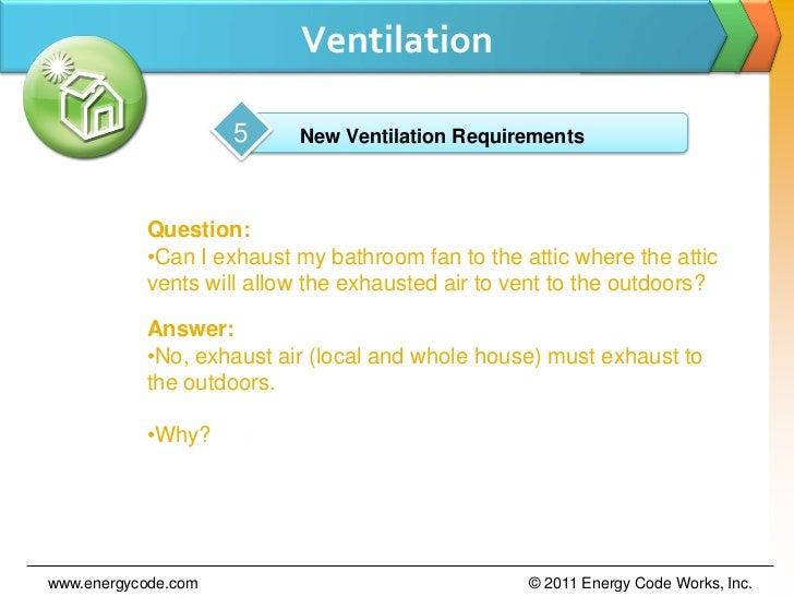 Ventilation ...