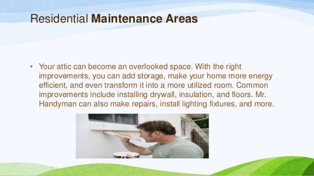 Residential maintenance services Slide 3