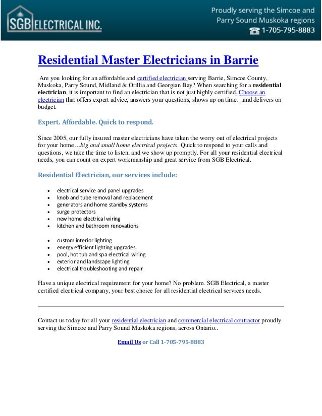 Surprising Residential Master Electrician Residential Electrical Contractor Wiring Digital Resources Counpmognl