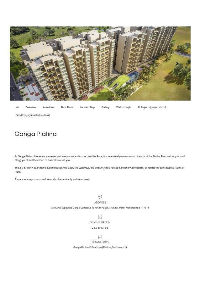    At Ganga Platino, life awaits you eagerly at every nook and corner. Just like Pune, it is seamlessly woven around th...
