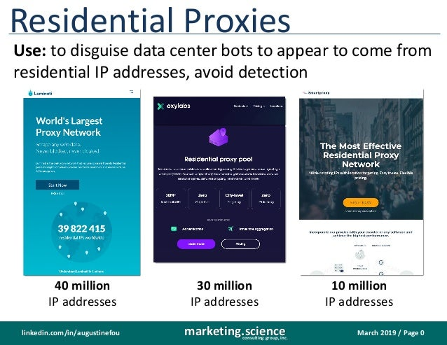 Residential Proxies Used to Disguise Invalid Traffic as Valid