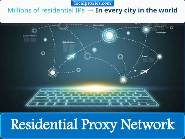 Residential Proxy Network localproxies.com