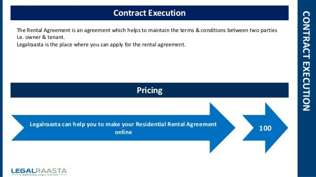 Residential rental agreement format template – Rental Agreement Renewal Format
