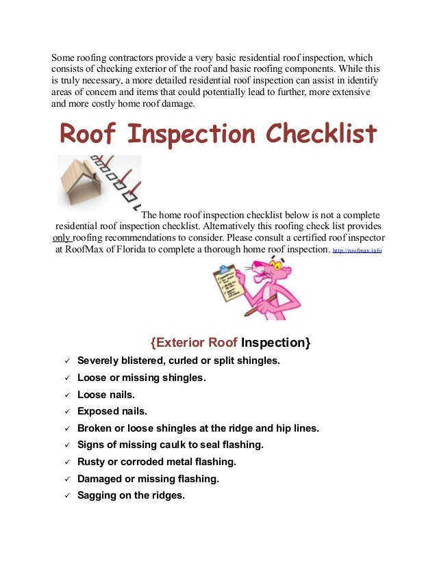 Residential Roof Inspection Checklist - Residential Roof Repair in Fl…