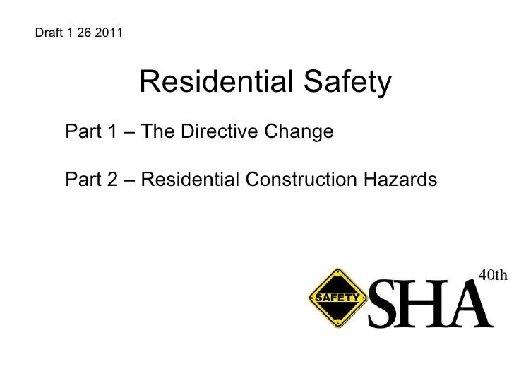 Residential Safety 1 26 11