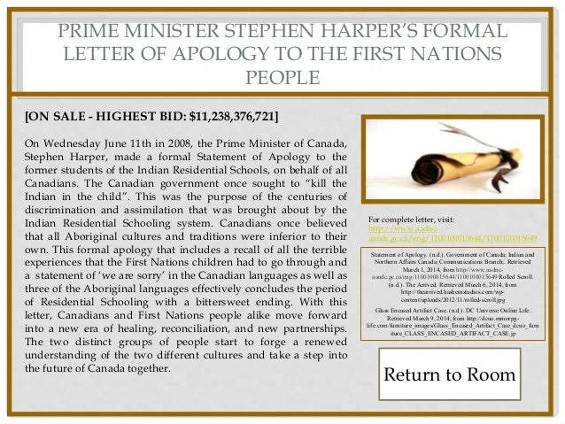 how to address stephen harper in a letter