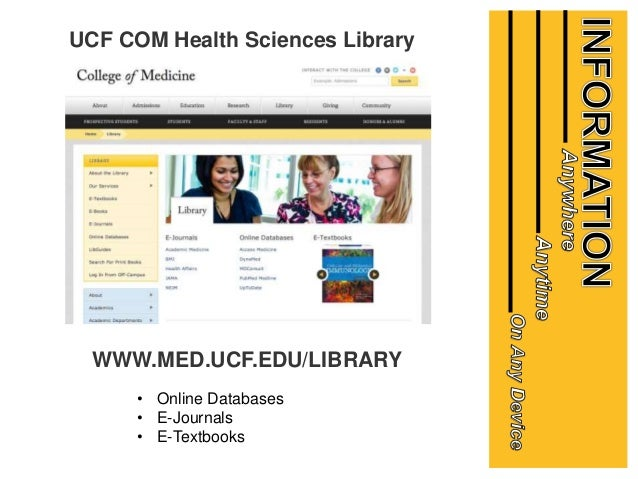 Ucf Com Gme Resident Orientation On Library Services And