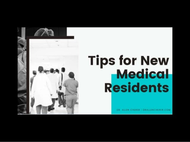 Tips for New Medical Residents