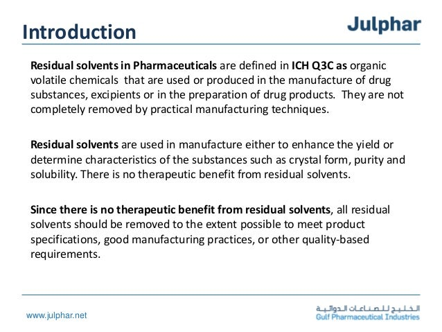 Residual solvents Slide 3