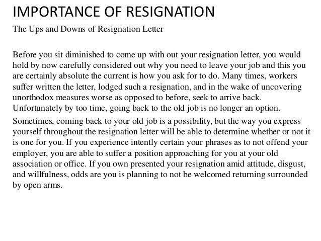 Resignation letter – Letter Asking for Resignation