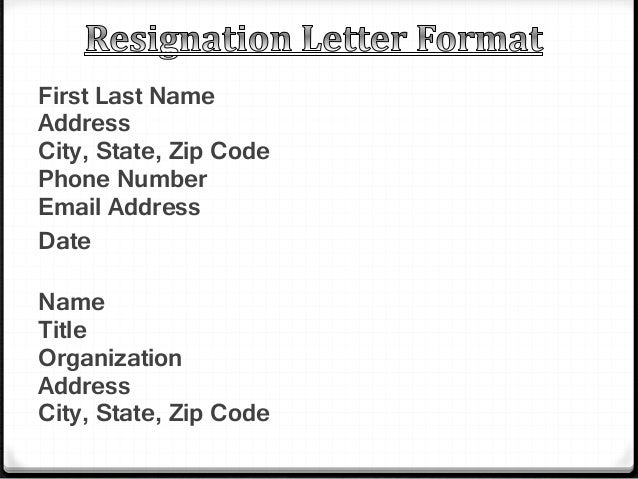 what to say in a resignation letter