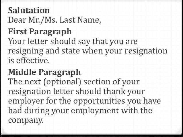 11 final paragraph conclude your resignation letter - What Should A Letter Of Resignation Say