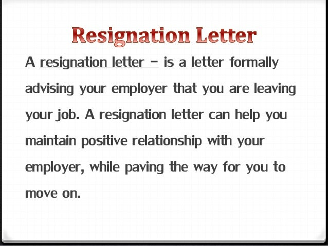 Resignation letter powerpoint 2 1 expocarfo Image collections