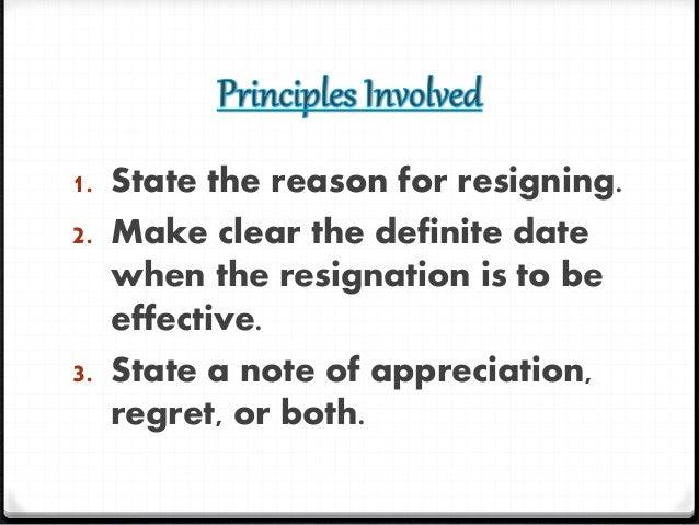 3. 1. The Resignation Letter ...