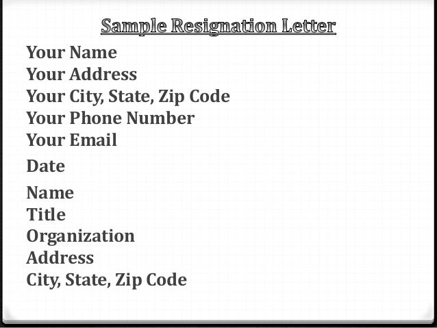 Resignation letter powerpoint expocarfo Choice Image