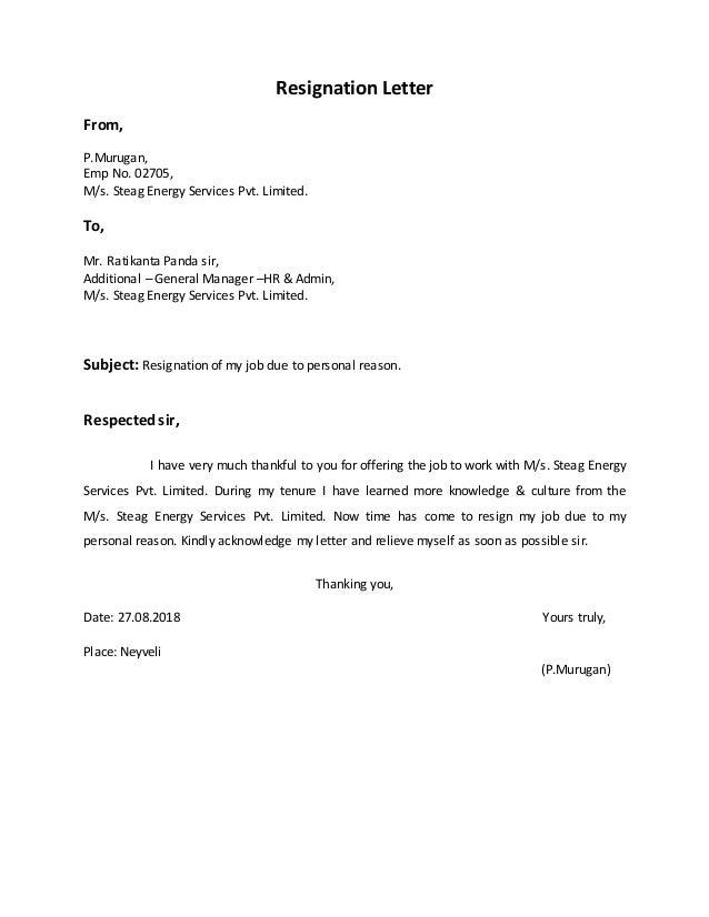 Reasons For Resignation Letter from image.slidesharecdn.com