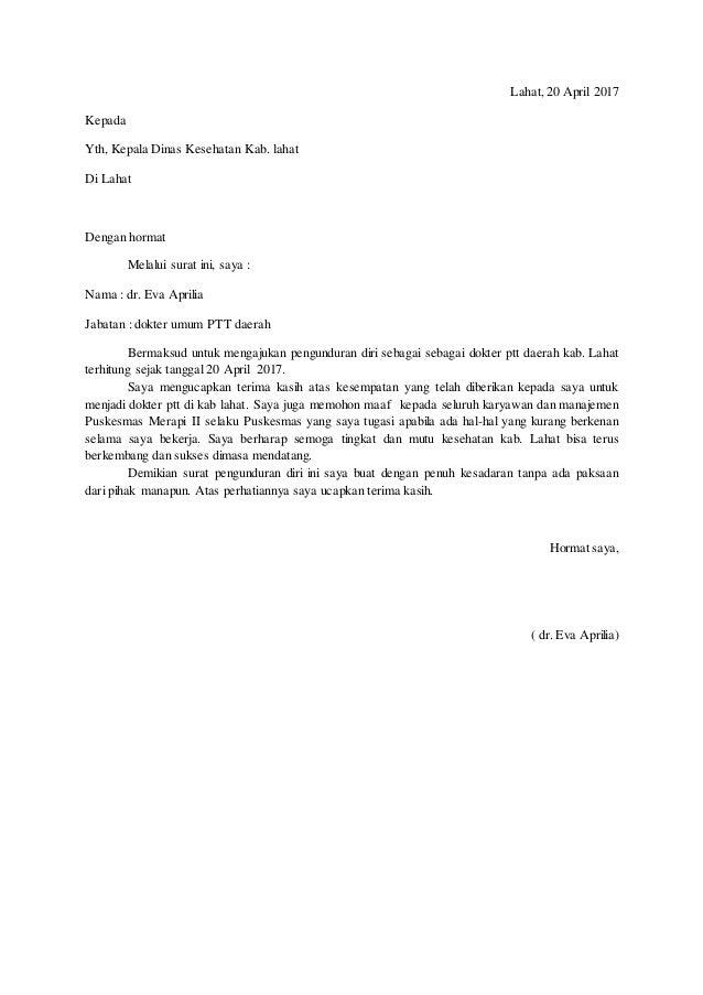 Contoh Surat Resign Com Detil Gambar Online